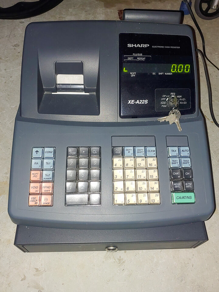 Sharp Cash Register Model xe-a22s in Delray Beach